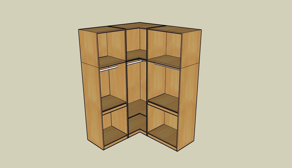 转角衣柜内部设计图 转角电脑桌设计图